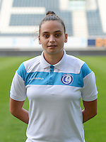20150821 - GENT, BELGIUM: Gent's Nicky Evrard pictured during a press conference about the start of the new Super League season of the women's team KAA Gent Ladies , Friday 21 August 2015 , in Gent. PHOTO DAVID CATRY