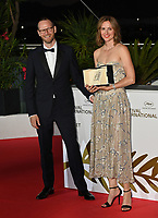 CANNES, FRANCE. July 17, 2021: Joachim Trier & Renate Reinsve at the photocall for Cannes Awards 2021 at the 74th Festival de Cannes.<br /> Picture: Paul Smith / Featureflash