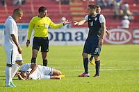 San Pedro Sula, Honduras - February 6, 2013: The US Men's National team falls to Honduras 2-1 during the first match of World Cup Hexagonal round.