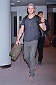 Actor Chris Hemsworth arrives in Japan