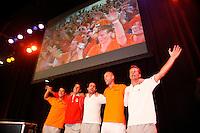 22-9-07, Netherlands, Rotterdam, Daviscup NL-Portugal, Feest na de overwinning
