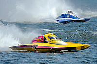 "Joe Sovie, A-23 ""Geezerboat"" and Kevin Kreitzer, A-64 ""Blue Devil"" (2.5 MOD class hydroplane(s)"