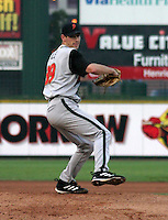August 6, 2003:  Cliff Lee of the Buffalo Bisons, Class-AAA affiliate of the Cleveland Indians, during a International League game at Frontier Field in Rochester, NY.  Photo by:  Mike Janes/Four Seam Images