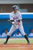 Pedro Zapata #26 of the Kingsport Mets at bat versus the Burlington Royals at Burlington Athletic Park July 3, 2009 in Burlington, North Carolina. (Photo by Brian Westerholt / Four Seam Images)