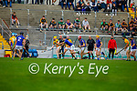 Kilmoyley's Daniel Collins in possession and is been tackled by Lixnaw's Jamie Galvin in round 2 of the County Senior hurling championship