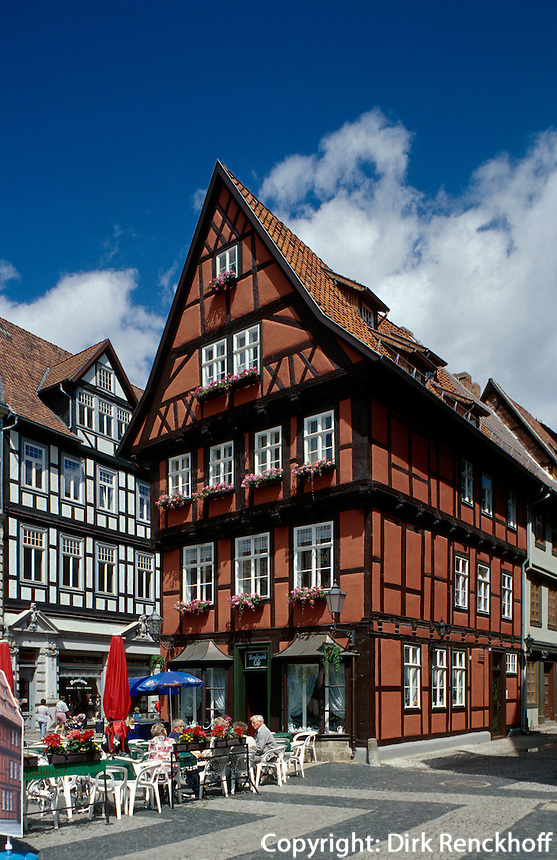 Deutschland, Sachsen-Anhalt, Fachwerkhaus in Quedlinburg, Unesco-Weltkulturerbe.house in Quedlinburg, world heritage