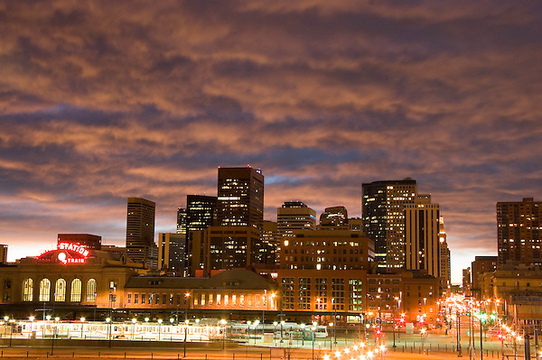 Union Station and the 16th Street Mall in  downtown Denver, Colorado. .  John offers private photo tours in Denver, Boulder and throughout Colorado. Year-round Colorado photo tours.