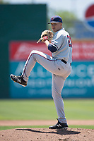 Lancaster JetHawks starting pitcher Matt Dennis (29) prepares to deliver a pitch during a California League game against the San Jose Giants at San Jose Municipal Stadium on May 13, 2018 in San Jose, California. San Jose defeated Lancaster 3-0. (Zachary Lucy/Four Seam Images)
