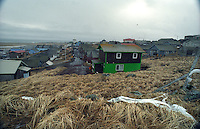 St. Paul Island, located in the bering sea, consists of a small native American village as seen in January 1994.