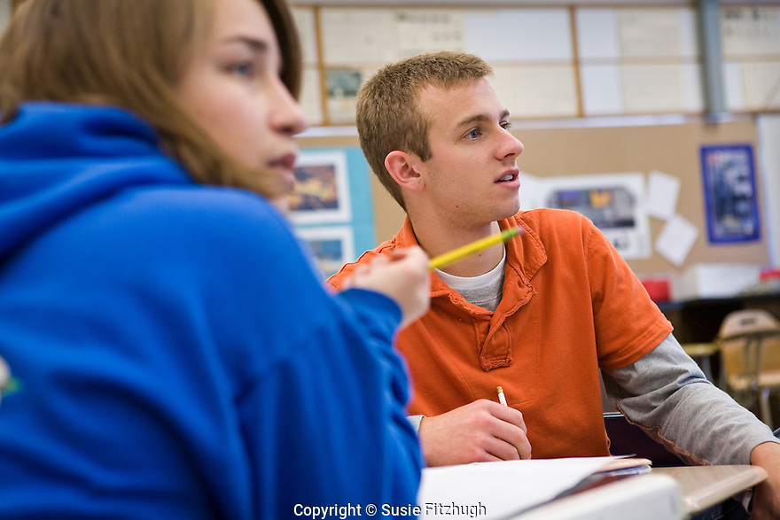 Sealth High School Juniors in Frank Cantwell's Math Class, part of the the school's International Baccalaureate program.