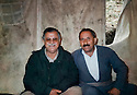 Iraq 1997 .A picnic with Jalal Talabani , on right, Seid Kader,Kurdistan Socialist Democratic Party,  minister of Industry.Irak 1997.Au cours d'un pique-nique avec Jalal Talabani, a droite, Seid Kader du parti Socialiste Democratique du Kurdistan, ministre de l'Industrie