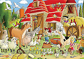 Alfredo, CUTE ANIMALS, puzzle, paintings, animals, house(BRTO27016,#AC#) illustrations, pinturas, rompe cabeza