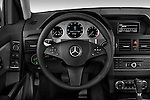 Steering wheel view of a 2010 Mercedes GLK Class 350