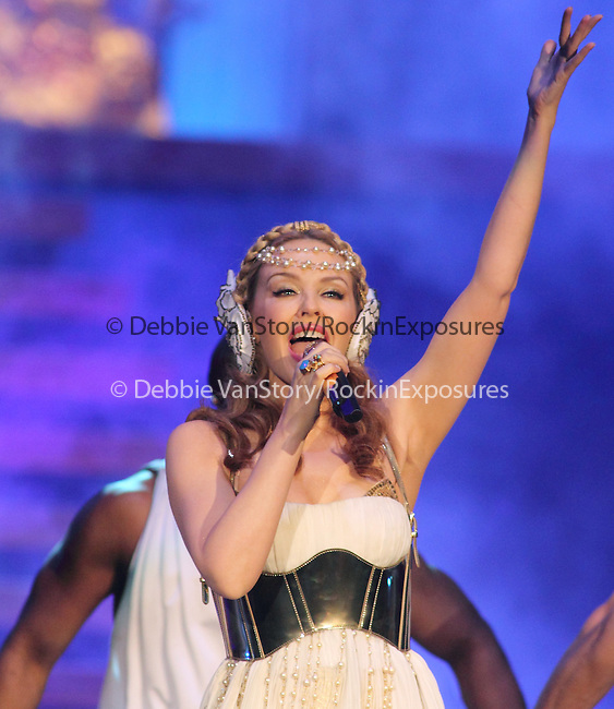 Kylie Minogue performs on her Aphrodite World Tour at the Patriot Center in Fairfax, Virginia April 30, 2011..Copyright EML/Rockinexposures.com.