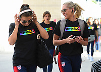 Sandy, Utah - Thursday June 07, 2018: Alex Morgan, Allie Long during an international friendly match between the women's national teams of the United States (USA) and China PR (CHN) at Rio Tinto Stadium.