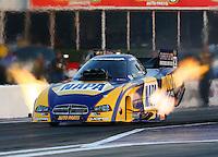 Apr 25, 2014; Baytown, TX, USA; NHRA funny car driver Ron Capps during qualifying for the Spring Nationals at Royal Purple Raceway. Mandatory Credit: Mark J. Rebilas-