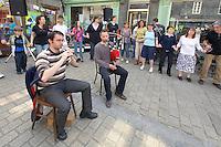 Fest-Deiz Gouel Erwan.Couple de sonneur en Mod Koz