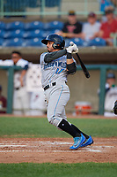 Hudson Valley Renegades Luis Trevino (17) bats during a NY-Penn League game against the Mahoning Valley Scrappers on July 15, 2019 at Eastwood Field in Niles, Ohio.  Mahoning Valley defeated Hudson Valley 6-5.  (Mike Janes/Four Seam Images)