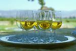 Glasses of chardonnay