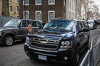 London, 05/02/2013. Today, Joe Biden, Vice President of the United States, visited 10 Downing Street where he met with the British Prime Minister David Cameron and the Deputy Prime Minister Nick Clegg.