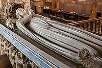 UK, England, Ewelme.  Effigy of Alice de la Pole, Dutchess of Suffolk, Grandaughter of Geoffrey Chaucer, in St. Mary the Virgin Church, 15th. Century.
