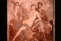 Roman Art:  Fresco--Venere e Marte (da Pompeii).   National Museum, Naples.