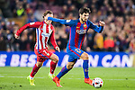 Andre Filipe Tavares Gomes of FC Barcelona runs past Antoine Griezmann of Atletico de Madrid during their Copa del Rey 2016-17 Semi-final match between FC Barcelona and Atletico de Madrid at the Camp Nou on 07 February 2017 in Barcelona, Spain. Photo by Diego Gonzalez Souto / Power Sport Images