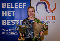 Wateringen, The Netherlands, December 8,  2019, De Rhijenhof , NOJK juniors 14 and18 years, Finals 14 years: Winner girls 14 years Isis van den Broek (NED)<br /> Photo: www.tennisimages.com/Henk Koster