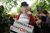 Central London - 29th May 2017 - <br /> <br /> The Anti-hunt rally in London against the Governments plans to lift the ban on fox hunting with hounds. <br /> <br /> <br /> Jeff Thomas Photography -  www.jaypics.photoshelter.com - <br /> e-mail swansea1001@hotmail.co.uk -<br /> Mob: 07837 386244 -