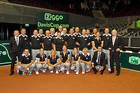 September 13, 2014, Netherlands, Amsterdam, Ziggo Dome, Davis Cup Netherlands-Croatia, Umpires<br /> Photo: Tennisimages/Henk Koster
