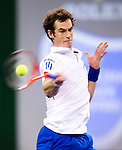 SHANGHAI, CHINA - OCTOBER 14:  Andy Murray of Great Britain returns a ball to Jeremy Chardy of France during day four of the 2010 Shanghai Rolex Masters at the Shanghai Qi Zhong Tennis Center on October 14, 2010 in Shanghai, China.  (Photo by Victor Fraile/The Power of Sport Images) *** Local Caption *** Andy Murray