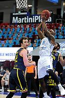 24-03-2021: Basketbal: Donar Groningen v Landstede Hammers: Groningen, Donar speler Justin Watts op weg naar een score