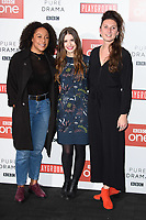 "Rosalind Eleazar, Philippa Coulthard and Bessie Carter<br /> at the ""Howard's End"" screening held at the BFI NFT South Bank, London<br /> <br /> <br /> ©Ash Knotek  D3343  01/11/2017"