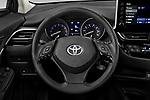 Car pictures of steering wheel view of a 2021 Toyota C-HR LE 5 Door SUV Steering Wheel