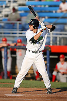 July 11th 2008:  Mitch MacDonald of the Jamestown Jammers, Class-A affiliate of the Florida Marlins, during a game at Russell Diethrick Park in Jamestown, NY.  Photo by:  Mike Janes/Four Seam Images
