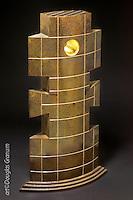 """Talisker"", Fabricated bronze sculpture by artist Douglas Granum incorporating 24kkt gold leaf, engraving and patina;  www.douglasgranum.com"