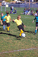 young children boys playing soccer Mount Shasta California