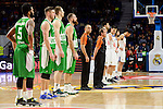 Real Madrid's players and Unics Kazan's players during match of Turkish Airlines Euroleague at Barclaycard Center in Madrid. November 24, Spain. 2016. (ALTERPHOTOS/BorjaB.Hojas)
