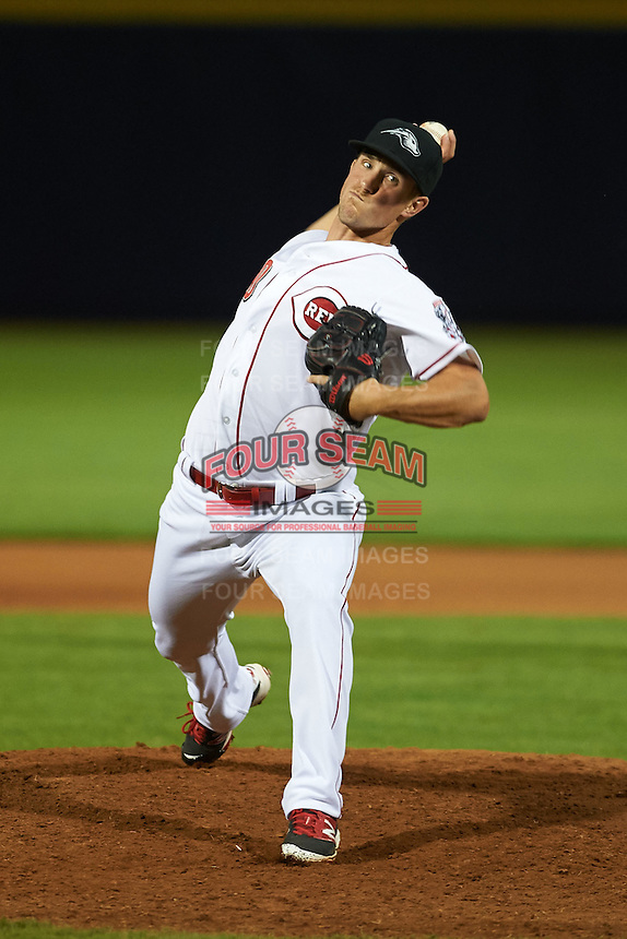 Peoria Javelinas pitcher Layne Somsen (30) delivers a pitch during an Arizona Fall League game against the Glendale Desert Dogs on October 19, 2015 at Peoria Stadium in Peoria, Arizona.  Glendale defeated Peoria 4-2.  (Mike Janes/Four Seam Images)