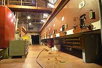 In the Chapoutier winery. Concrete fermentation vats.  Domaine M Chapoutier, Tain l'Hermitage, Drome Drôme, France Europe