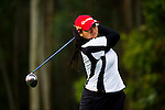 Agnes Retno Sudjasmin of Indonesia tees off during the 2011 Faldo Series Asia Grand Final on the Faldo Course at Mission Hills Golf Club in Shenzhen, China. Photo by Raf Sanchez / Faldo Series