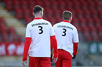 Orient players wear t-shirts in support of the Justin Edinburgh 3 Foundation during Leyton Orient vs Crawley Town, Sky Bet EFL League 2 Football at The Breyer Group Stadium on 19th December 2020