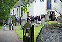 GUESTS AT TRAQUAIR KIRK, KIRKHOUSE, FOR THE MEMORIAL SERVICE FOR LORD COLIN CHRISTOPHER PAGET GLENCONNER, HELD ON SATURDAY 18TH JUNE 2011