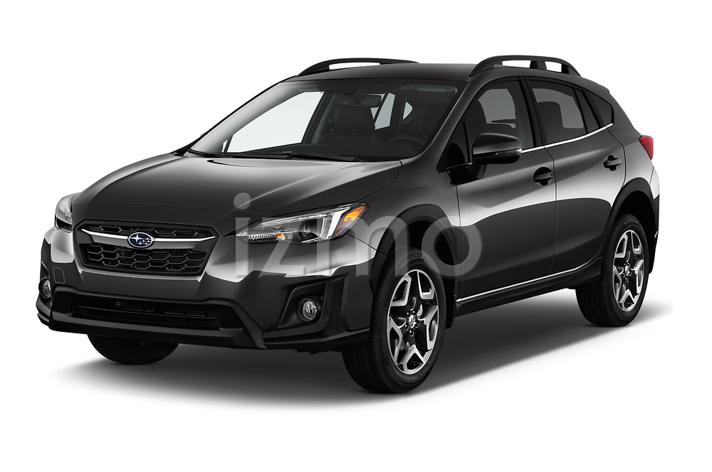 2018 Subaru Crosstrek Limited CVT 5 Door SUV angular front stock photos of front three quarter view