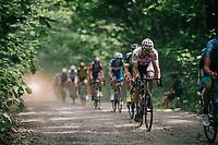 defending champion Mathieu van der Poel (NED/Corendon-Circus) over the first gravel section<br /> <br /> 3rd Dwars Door Het hageland 2018 (BEL)<br /> 1 day race:  Aarschot > Diest: 198km