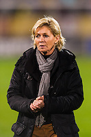 Germany (GER) head coach Silvia Neid. The United States (USA) and Germany (GER) played to a 2-2 tie during an international friendly at Rentschler Field in East Hartford, CT, on October 23, 2012.