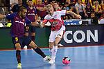 League LNFS 2018/2019.<br /> Play Off. Game: 5.<br /> FC Barcelona Lassa vs El Pozo Murcia: 3-2.<br /> Leo Santana vs Miguelin.