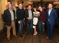 From left are Robert Day, Steven Price, Tim Gorton, Tina Clough, James Hall and Daniel Otton of Buttercross Estates