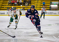 9 February 2020: University of Connecticut Husky Forward Viki Harkness, a Sophomore from Berwick, Ontario, in first period action against the University of Vermont Catamounts at Gutterson Fieldhouse in Burlington, Vermont. The Lady Cats defeated the Huskies 6-2 in the second game of their weekend Hockey East series. Mandatory Credit: Ed Wolfstein Photo *** RAW (NEF) Image File Available ***