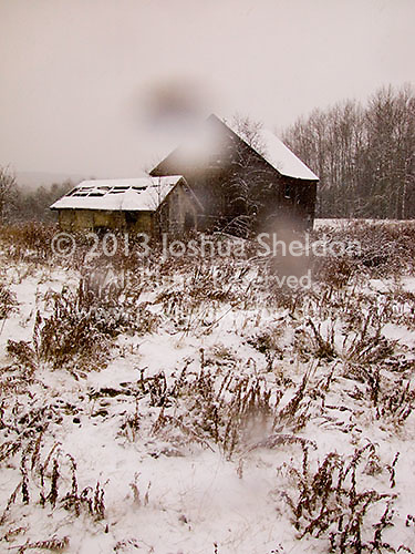 Snow covered barns<br />